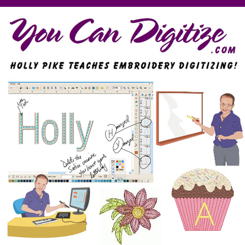 You can digitize - Holly Pike teaches embroidery digitizing
